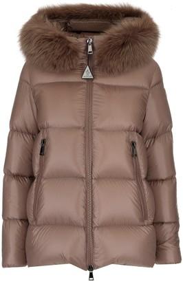 Moncler Fur Trimmed Hooded Down Jacket