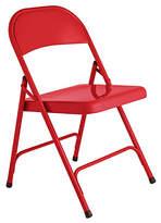 Habitat Macadam Metal Folding Chair - Red