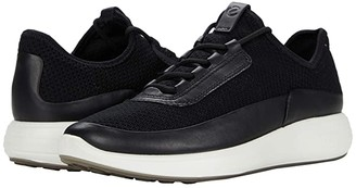 Ecco Soft 7 Runner Summer Sneaker (Black/Black/Black Cow Leather/Textile) Women's Shoes