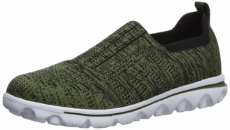 Propet Women's TravelActiv Stretch Boat Shoe Army Green 12 D US