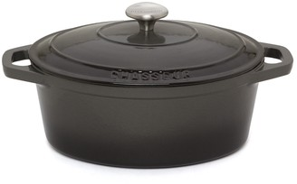 Chasseur Oval French Oven 27cm/3.6L Caviar