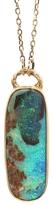 Jamie Joseph Rectangular Aussie Boulder Opal Pendant Necklace