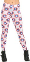 Mighty Fine womens Captain America All Over Shields Juniors Leggings