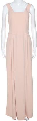 Emporio Armani Pink Crepe Sleeveless Maxi Dress M