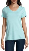 ST. JOHN'S BAY St. John's Bay Short Sleeve V Neck T-Shirt