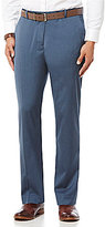 Perry Ellis Non-Iron Regular-Fit Flat-Front Heather Twill Pants