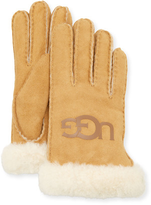 UGG Sheepskin Logo Gloves