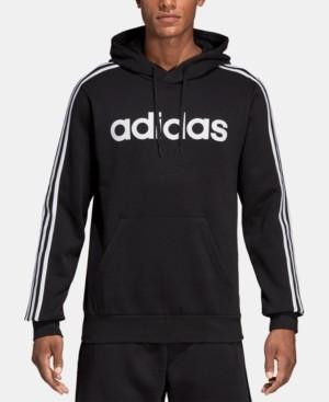 adidas Men's Essentials 3-Stripes Fleece Logo Hoodie
