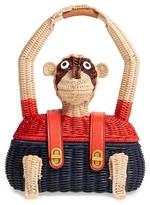 Tory Burch Monkey Wicker Tote - Beige