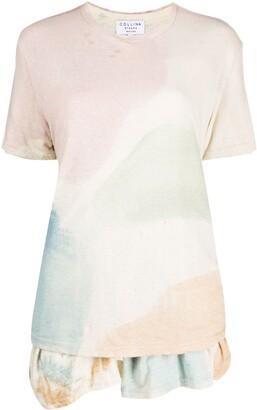 Collina Strada x Charlie Engman colour-block peplum T-shirt