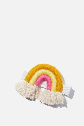 Cotton On Hair Clip - Natural Rainbow