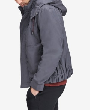 Andrew Marc Men's Hooded Bomber Jacket