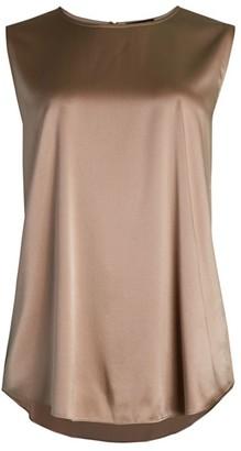 Eileen Fisher Silk Sleeveless High-Low Blouse