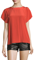 RED Valentino Boatneck Cap Sleeve Top