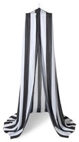 Pillowfort Rugby Stripe Canopy Black & White