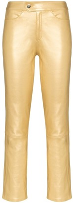 Skiim Slim-Fit Leather Trousers