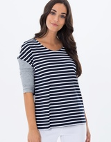 Privilege Contrast Sleeve Top