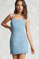 Forever 21 Fitted Denim Mini Dress
