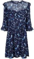 Claudie Pierlot Floral Ruffle Dress