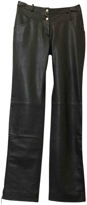Christian Dior Black Leather Trousers for Women Vintage