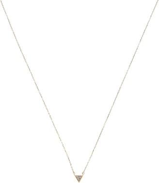 Adina Reyter Super Tiny Pave Triangle Necklace