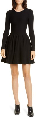 Alexander Wang Long Sleeve Fit & Flare Dress