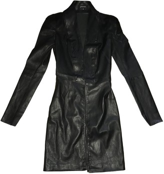 Jitrois Black Leather Trench coats