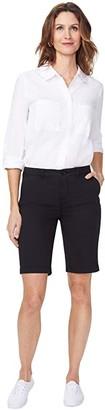 NYDJ Petite Petite Bermuda Shorts in Stretch Twill in Black (Black) Women's Shorts