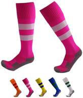 VWU Boys Girls Mens Womens Thick Knee High Soccer Socks Stripe Compression Socks Athletic Socks (L, )