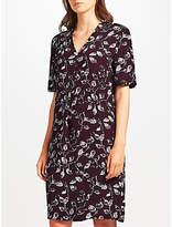 John Lewis Phoebe Print Dress, Aubergine