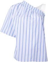 MSGM asymmetric striped blouse
