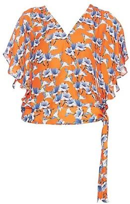 Parker Kory Kimono-Sleeve Floral Top