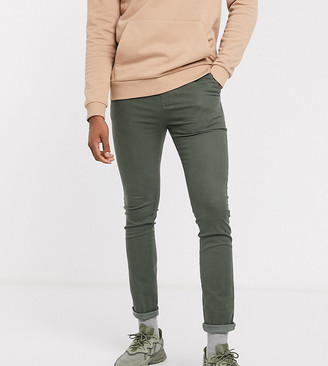 Asos DESIGN Tall super skinny chinos with elasticated waist in washed khaki