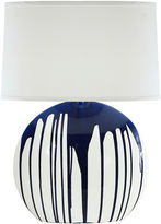 One Kings Lane Torrance Table Lamp, Navy Drip