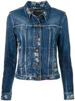 fitted denim jacket - ShopStyle
