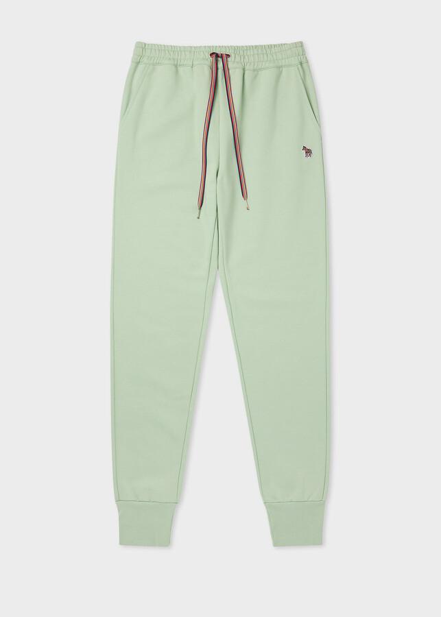 Paul Smith Women's Pistachio Zebra Logo Organic-Cotton Sweatpants