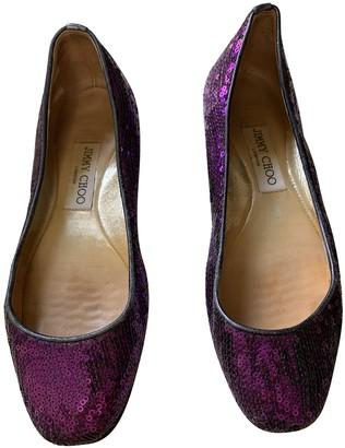 Jimmy Choo Purple Glitter Ballet flats