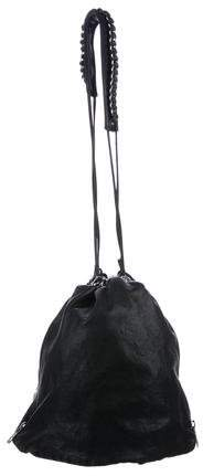 Alexander Wang Leather Drawstring Bucket Bag