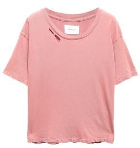 Current/Elliott The Short Cg Distressed Cotton-jersey T-shirt