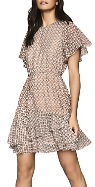 Reiss Anna Printed & Ruffled Dress - 100% Exclusive