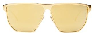 Bottega Veneta D-frame Metal Sunglasses - Gold