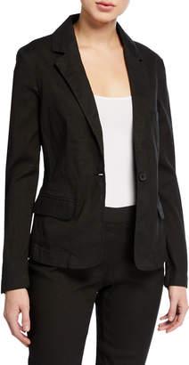 120% Lino Linen-Cotton Short Long-Sleeve Blazer