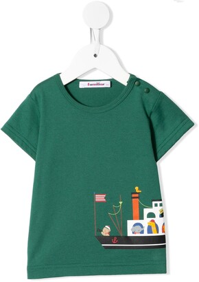 Familiar graphic print T-shirt