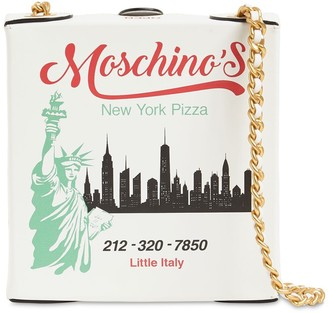Moschino Mini Pizza Box Leather Shoulder Bag