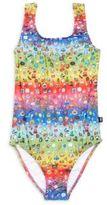 Zara Terez Girl's Emoji-Print One-Piece Swimsuit