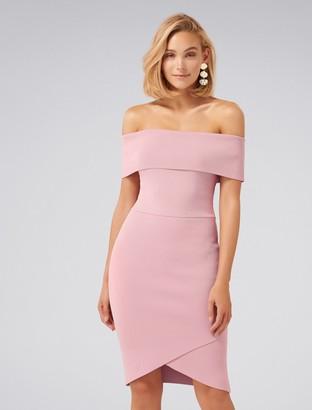 Ever New Opal Bardot Knitted Dress