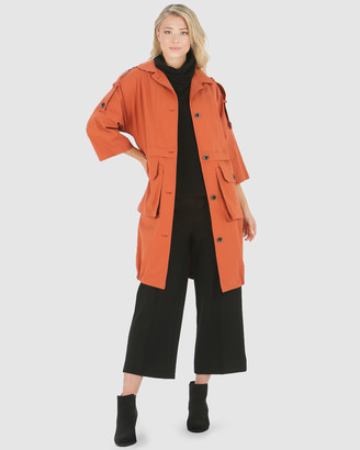 Privilege Women's Red Winter Coats - Utility Coat - Size One Size, 10 at The Iconic