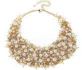 Natasha Accessories Natasha Crystal and Simulated Pearl Necklace