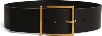 Sandro Paris Wide Leather Belt