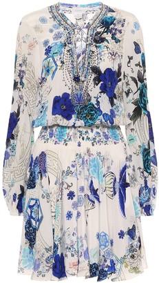 Camilla Embellished silk dress